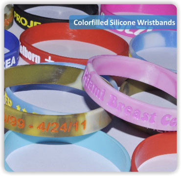 Colorfilled Wristbands